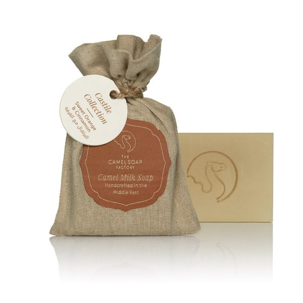 The Camel Soap Factory – Natural Camel Milk Skincare – Castile Collection – Sweet Orange and Cinnamon